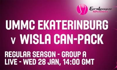 Euroliga: UMMC Jekaterynburg - Wisła Can-Pack Kraków