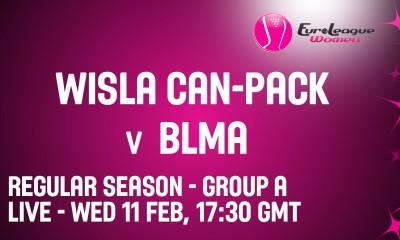 Euroliga: Wisła Can-Pack – BLMA [Na Żywo w Wisła.TV]