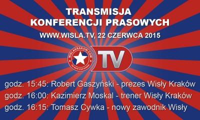 Konferencje prezesa, trenera i Tomasza Cywki