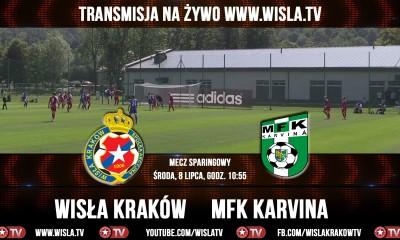Wisła - Karvina, mecz sparingowy