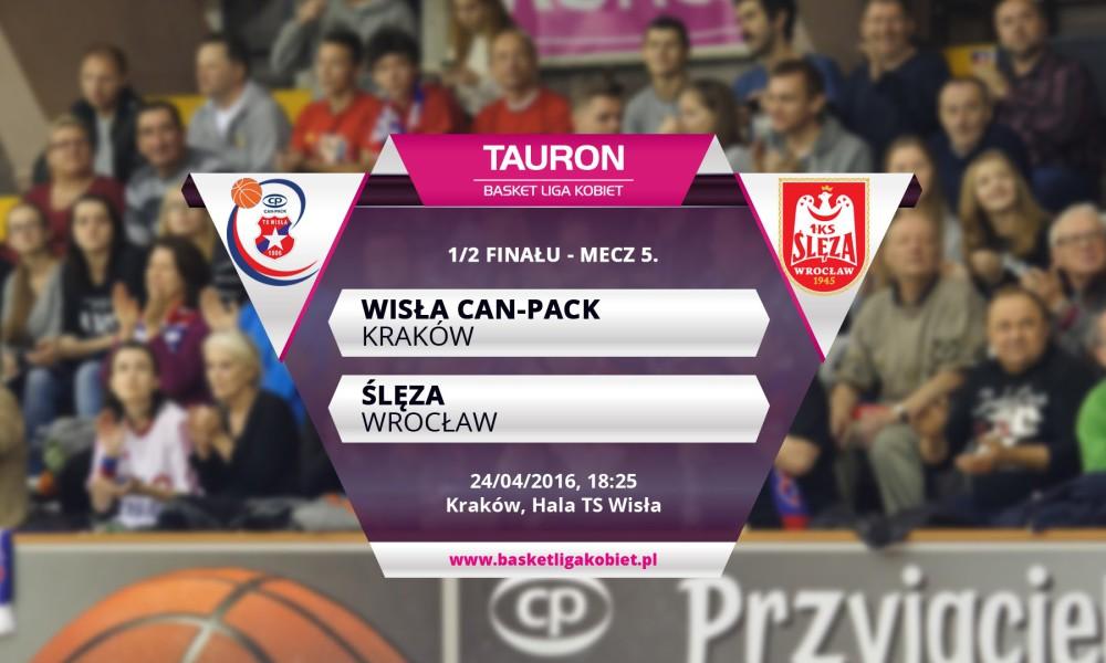 TBLK: Wisła Can-Pack – Ślęza. 1/2 finału MP, mecz 5!